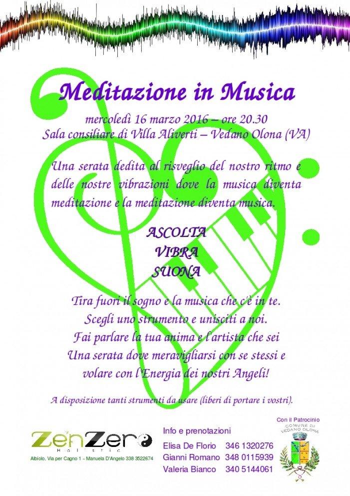 """Tutti insieme a """"Meditazione in Musica"""" del 16 marzo"""